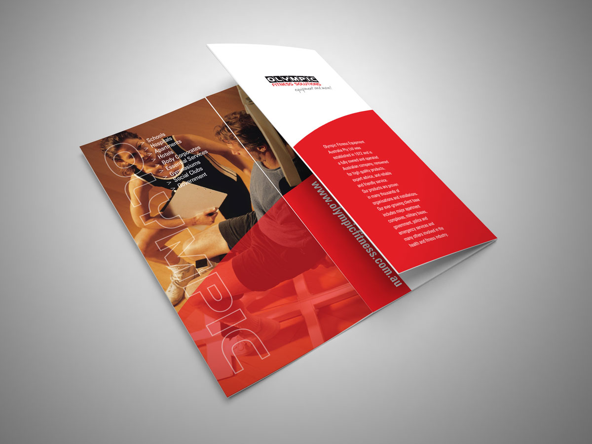 Olympic Fitness DL brochure design